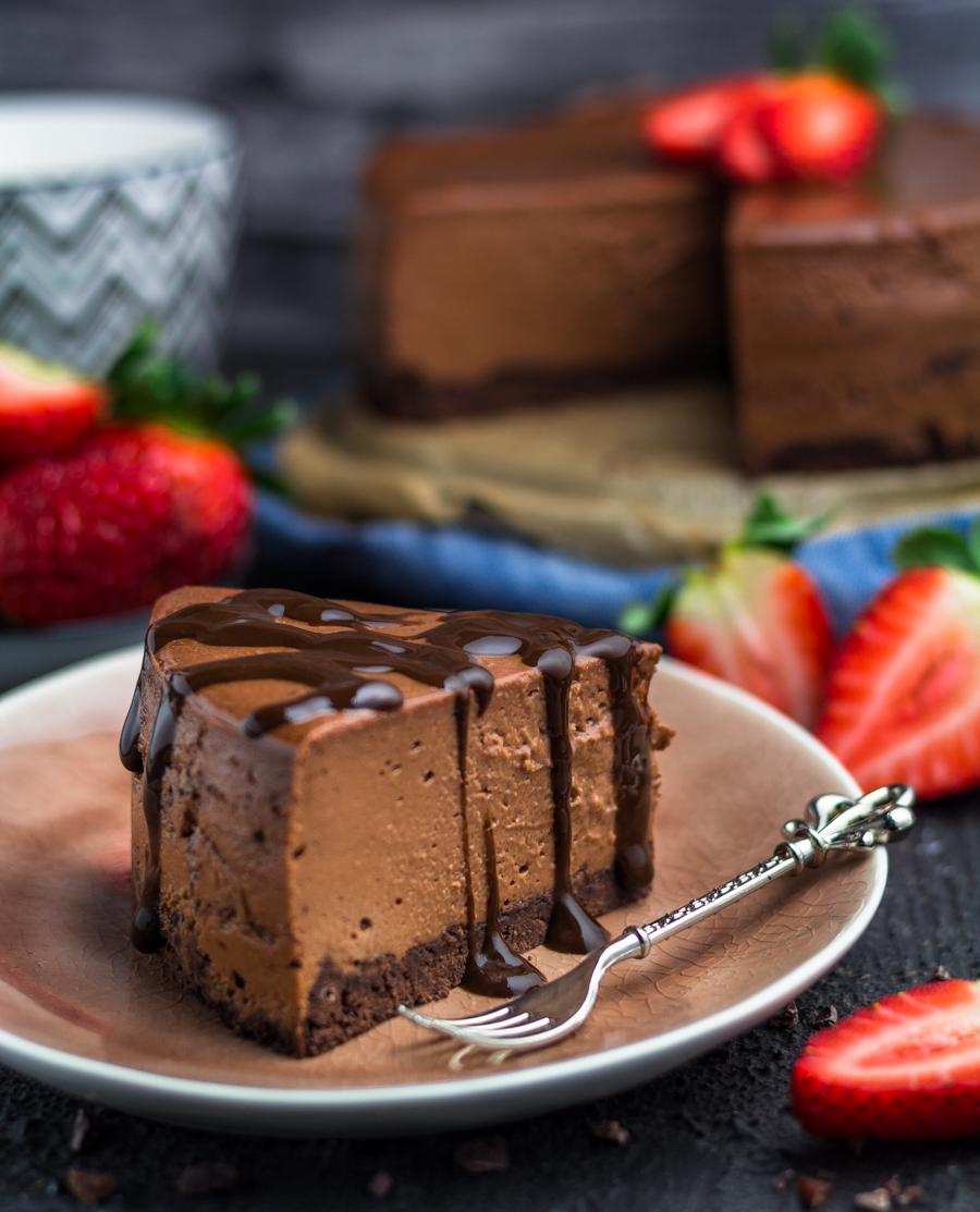 Nutella Cheesecake mit Boden