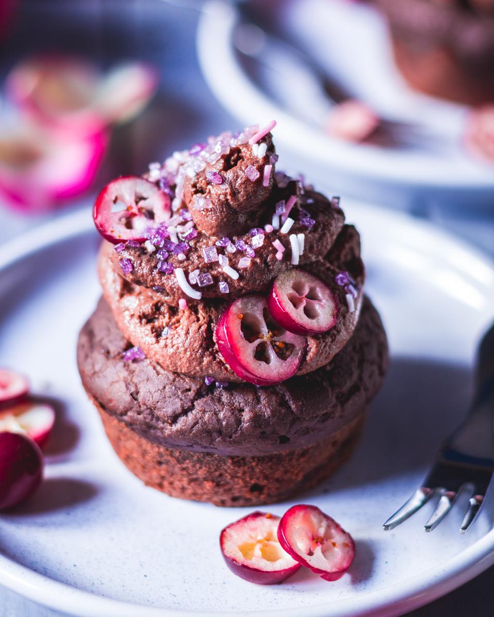 Vegane Schoko Cupcakes mit Schoko Frosting