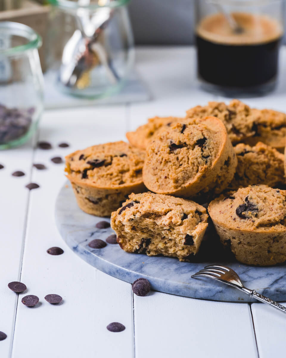 Low Carb Keto Muffins mit Chocolate Drops