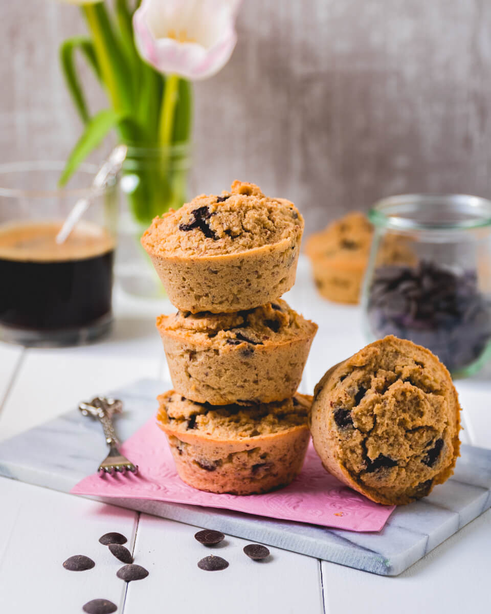 Chocolate Chip Muffins Low carb Keto