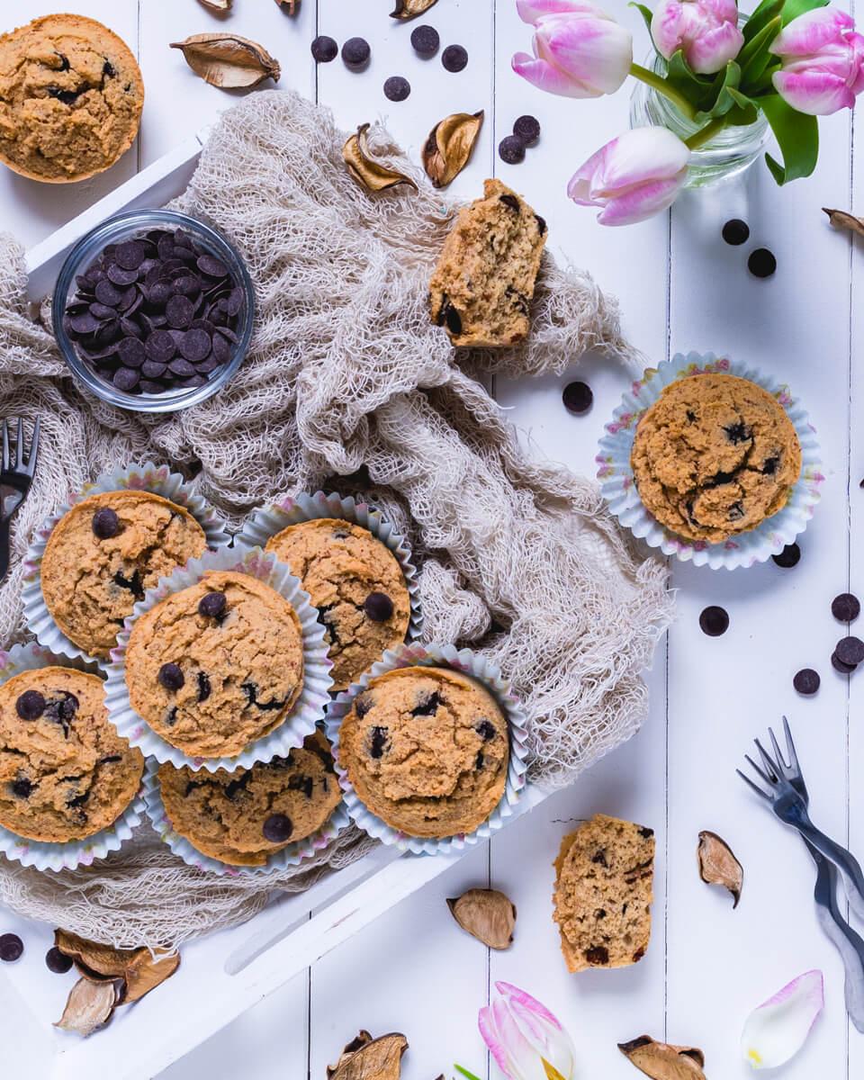 Low Carb Keto Muffins mit Schokolade