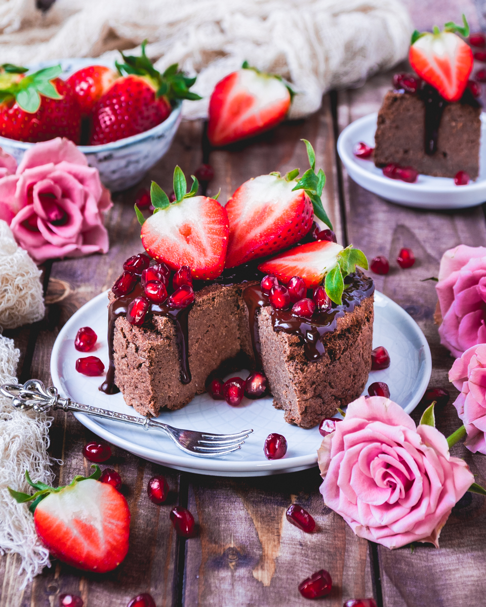 vegan chocolate protein cake