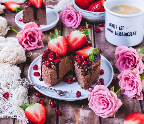 Schoko Frühstückskuchen vegan, glutenfrei