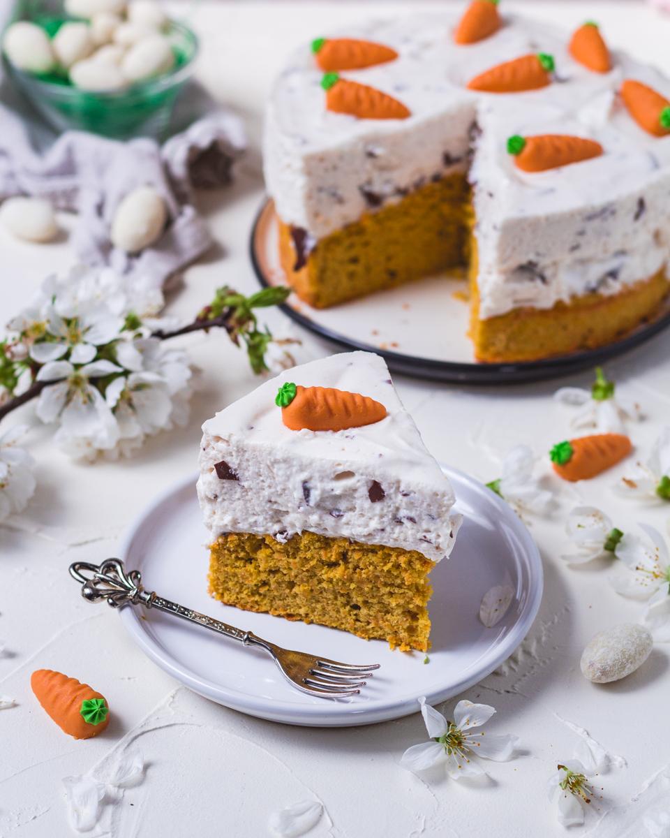gesunder Karotten Kuchen Ostern