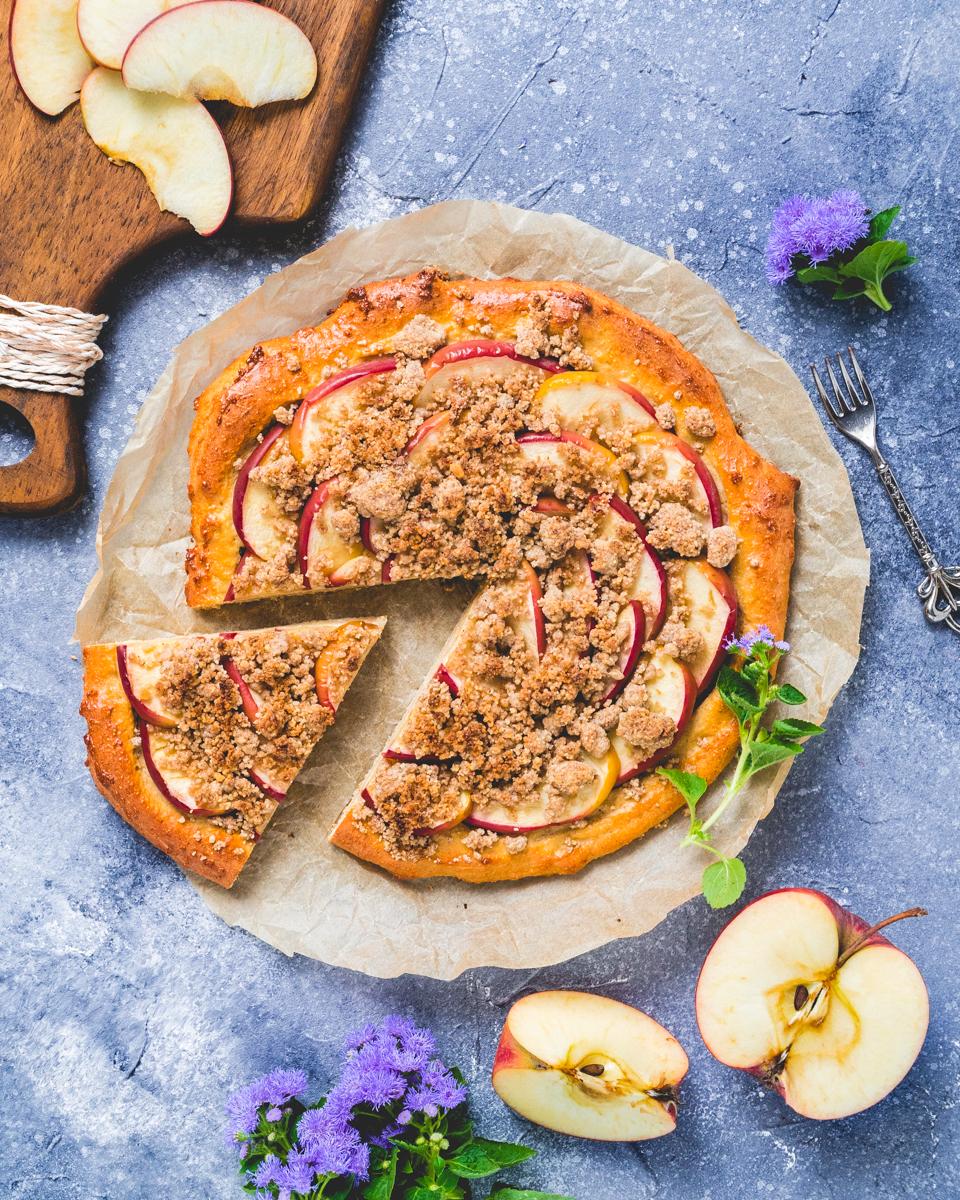 Rezept für eine gesunde Apfel Pizza