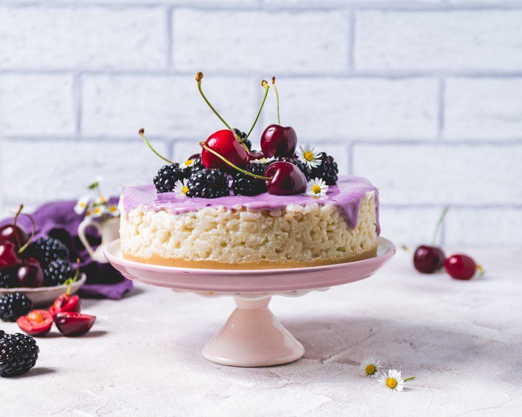 Veganer Milchreis Kuchen