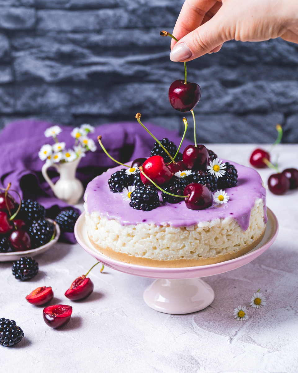Milchreis Kuchen ohne Zucker