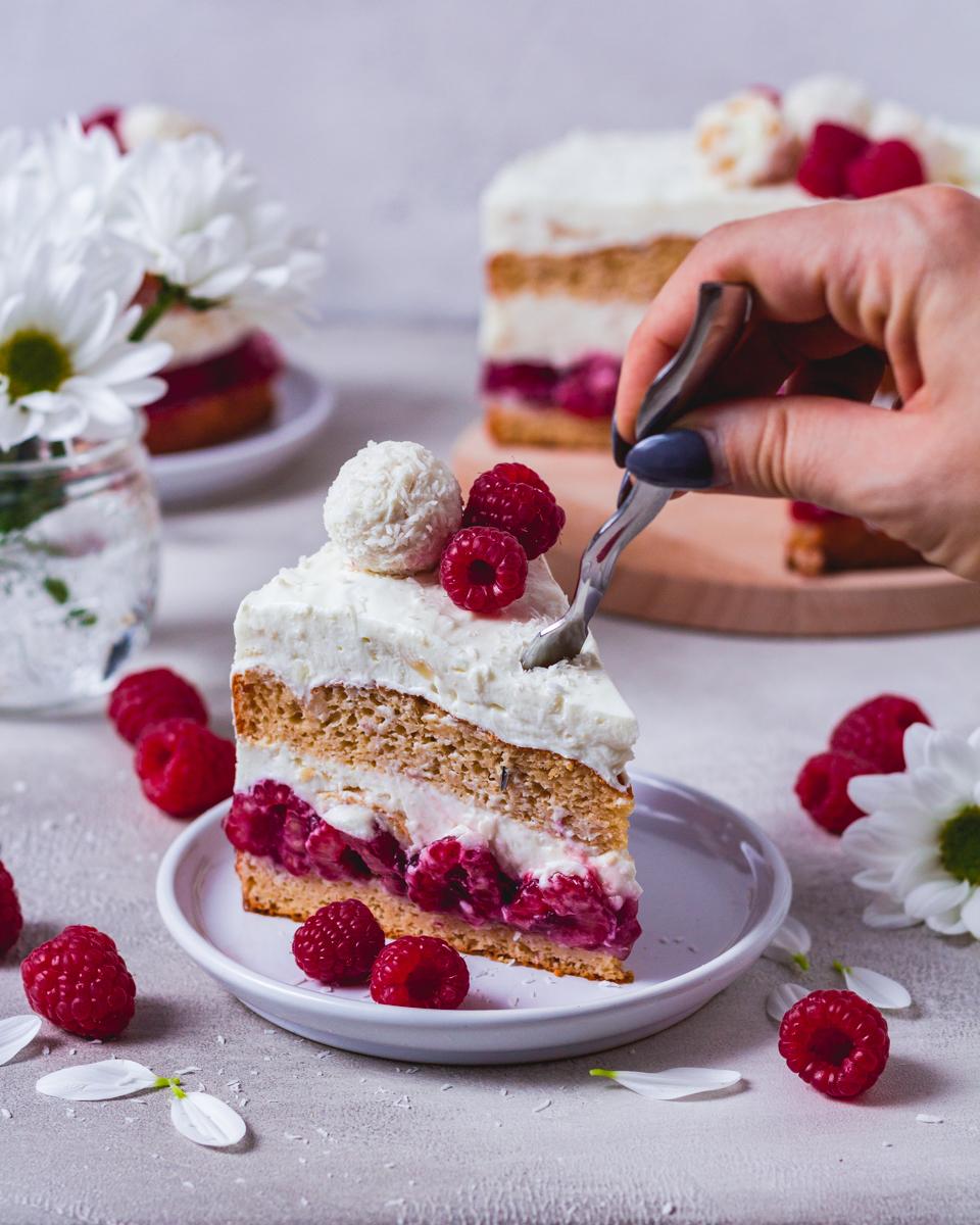 gesunde Raffaello-Torte