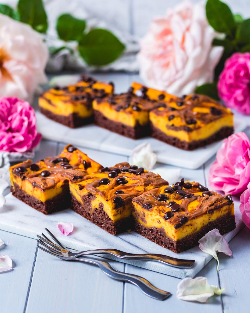 Schoko-Kürbis Protein-Kuchen