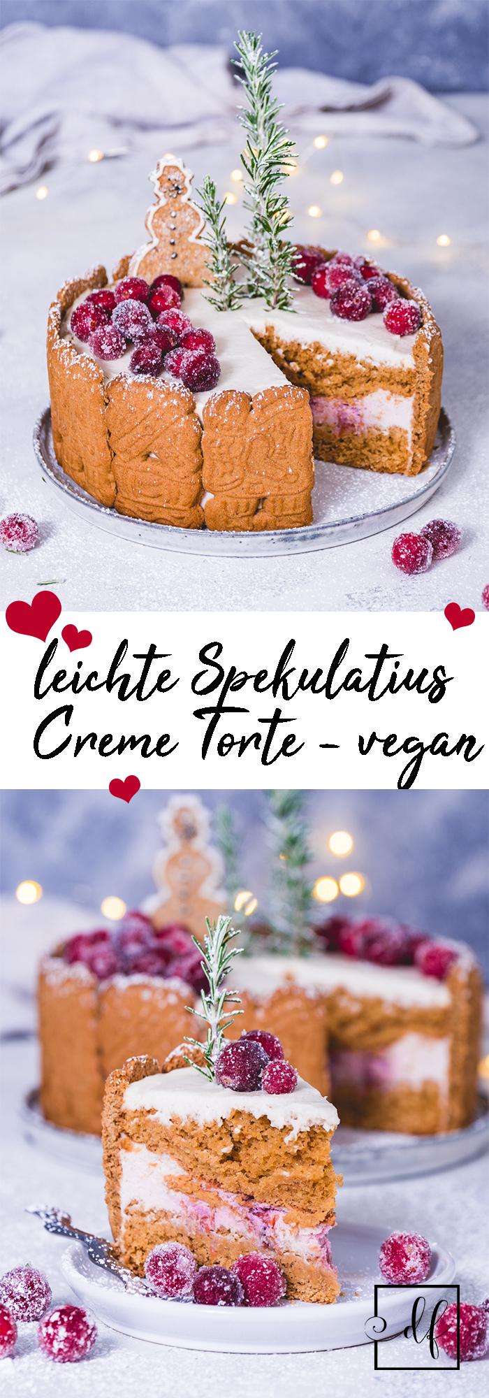 Creme Torte mit Spekulatius und einer leichten Buttercreme