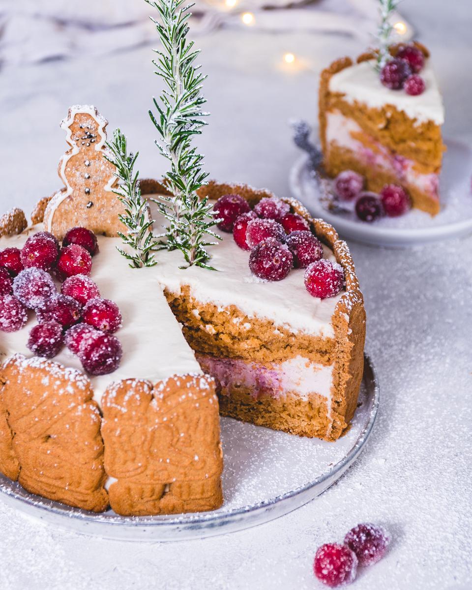 Weihnachtliches Rezept für eine  Spekulatius Torte mit Buttercreme