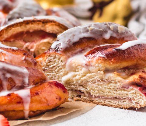 Hefekranz vegan, zucker- und kalorienarm