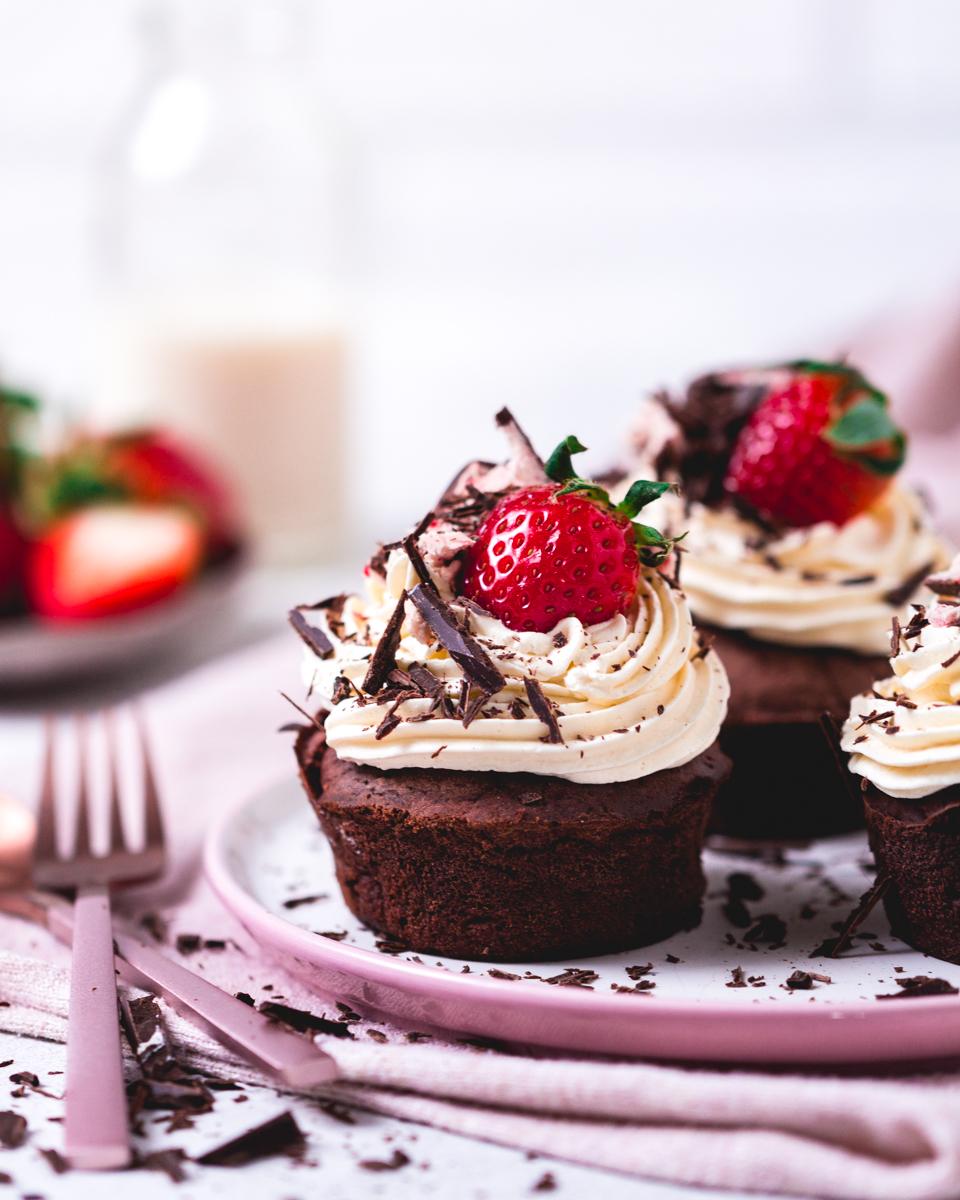 Kalorienarme, vegane Rezepte für Cupcakes